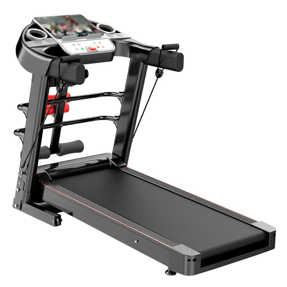 YUXIAOYU Smart Treadmill, Folding Motorised Running Exercise Machine with LCD Screen, Multifunctional Bluetooth Treadmill Up To Speed 10KM/H Supports 100Kg,A2