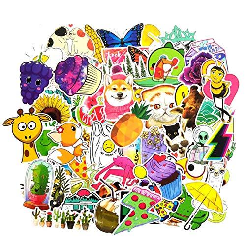 huanggua Kleurrijke Populaire Stickers Vinyl Skateboard Gitaar Reizen Case Pack Tide Merk Logo Decals 1