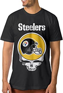 Show Time Men's Greatful Steelers Short Sleeve New Style Tee Black
