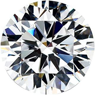 Moissanite DEF Colorless Simulated Diamond Loose Stone, Round Brilliant Cut (DEW) Excellent Cut VVS Clarity (0.10) moissanite
