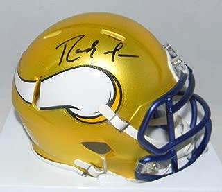 Randy Moss Minnesota Vikings Signed Autograph Blaze Speed Mini Helmet JSA Witnessed Certified
