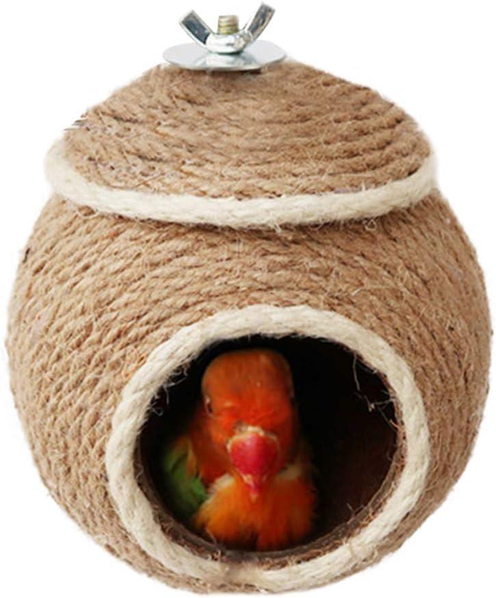 Handwoven Straw Bird Nest Reusable Breedin Parakeet Special cheap Campaign Grass Woven