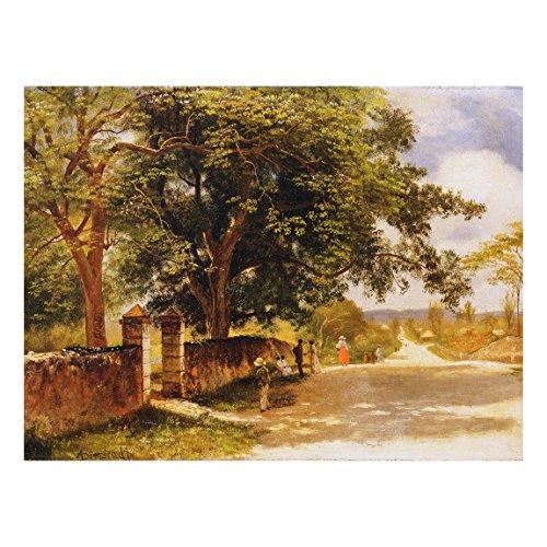 Bilderwelten Glasbild Albert Bierstadt - Straßeansicht in Nassau 75 cm x 100 cm