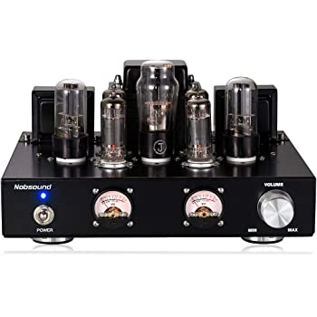 Nobsound 6P1 6.8W x 2 Vacuum Tube Power Amplifier; Stereo Class A Single-Ended Audio Amp Handcrafted