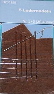 TSL läder nålar, silver, 5 delar