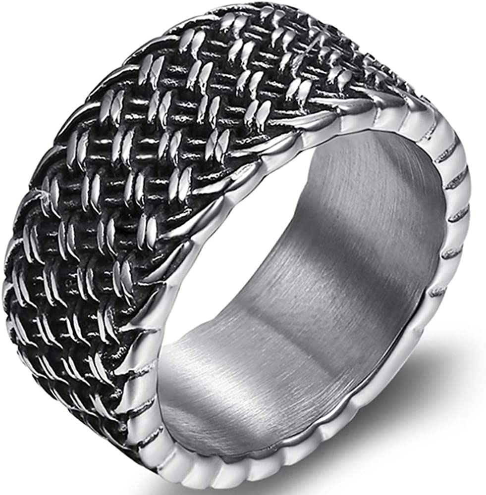 Jude Jewelers 9mm Retro Vintage Antique Style Wedding Band Biker Cocktail Party Ring