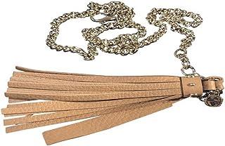 015496d7a9641 Gucci Women s Leather Tassel Chain Belt 388992 Camelia Beige ...
