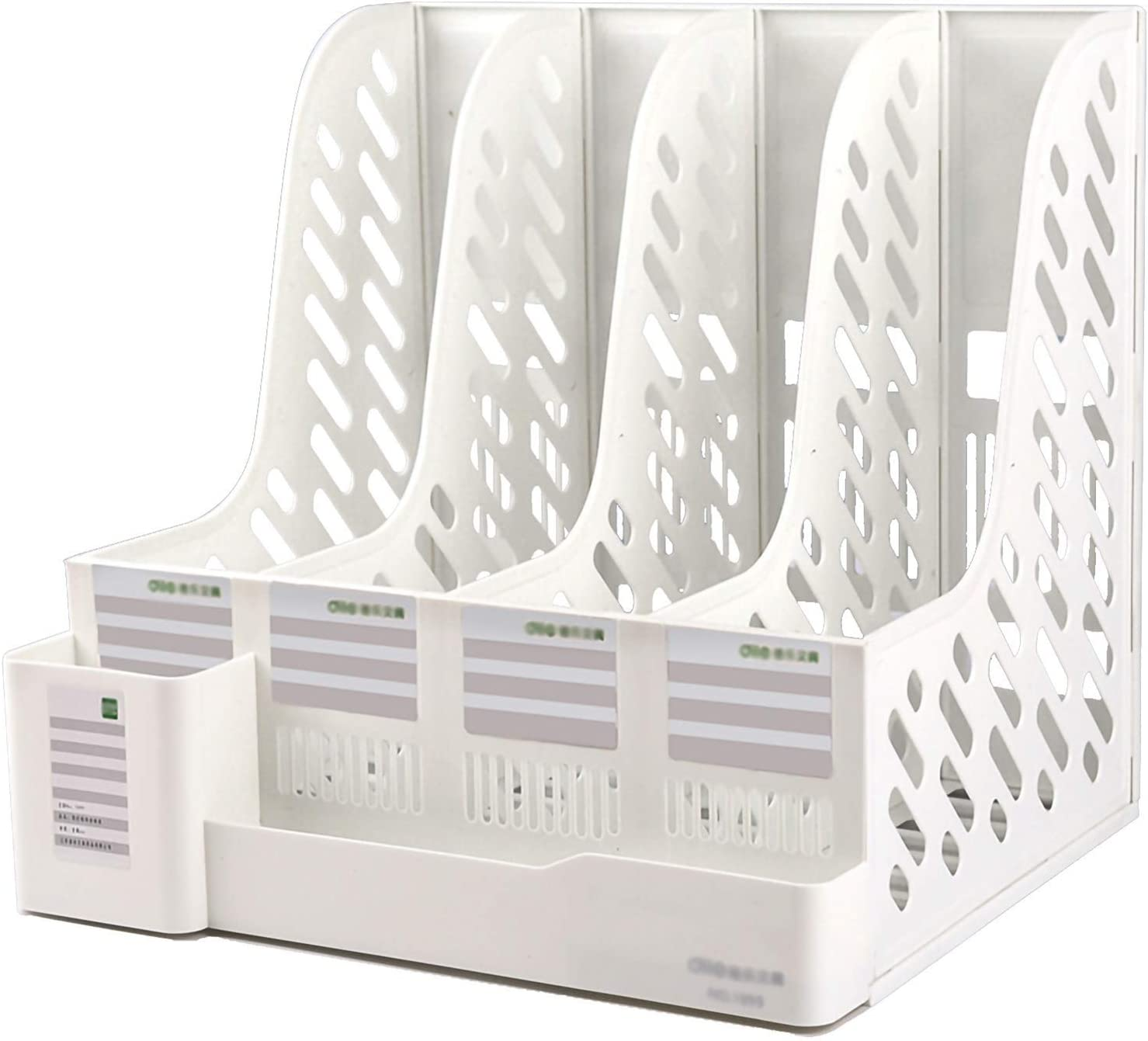 Super beauty product restock quality top! Bookshelf Sturdy Desktop 4 Sections Safety and trust F Organizer Vertical