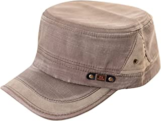 Etosell Men Women Adjustable Army Plain Vintage Hat Cadet Military Baseball Cap