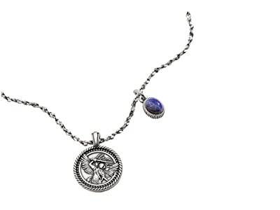 Alex and Ani Archangel Michael Duo Charm Adjustable Necklace (Silver) Necklace