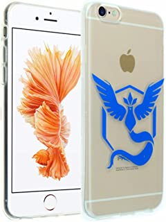 iPhone 6s Case, DURARMOR® FlexArmor [Lifetime Warranty] iPhone 6 Clear Case Team Mystic Pokemon Go Soft Flexible TPU Bumper Case Ultra Thin ScratchSafe Shock Absorption Protective Cover for iPhone 6s