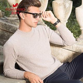 富贵鸟男士羊毛衫圆领秋冬季中年男装长袖套头毛衣男针织衫厚