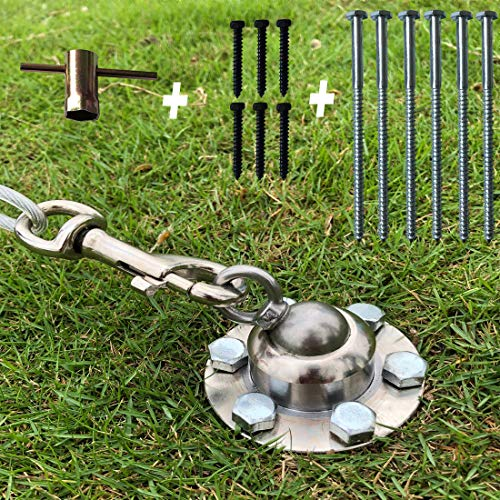 KAINIAIJ Dog Tie Out Stake, 360 Swivel Dog Stake for Yard Outside, Outdoor Dog Anchor Support Play Training Pull up to 1100lbs for Small Medium Large Dogs & Cat in Garden Camping and Ground