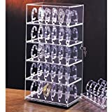 Clear Acrylic Rotating Jewelry Watch Display Case 12' x 8 1/2' x 24 1/2' Tall ~ Holds 60 Watches