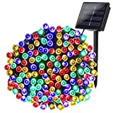 Joomer Solar String Lights 72ft 200 LED 8 Modes Outdoor String Lights Waterproof Solar Fairy Lights for Garden, Patio, Fence, Balcony, Outdoors (Multicolor)