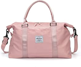 Womens Travel Bags, Weekender Carry On for Women, Sports Gym Bag, Workout Duffel Bag, Overnight Shoulder Bag fit 15.6 Inch...