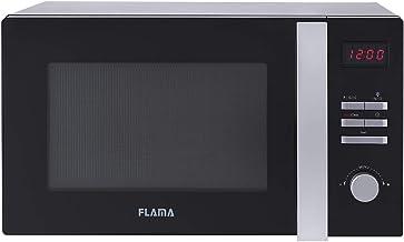 Flama Microondas Negro 1896FL, 900W, Capacidad de 25L, 8 Programas Automáticos, Control Digital, Función Grill con Potencia de 1000W