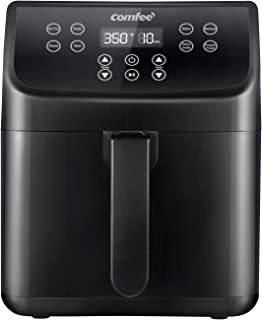 COMFEE' 5.8Qt Digital Air Fryer, Toaster Oven & Oilless Cooker, 1700W with 8 Preset Functions, LED Touchscreen, Shake Remi...