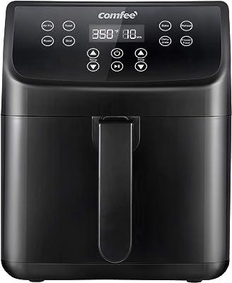 COMFEE' 5.8Qt Freidora de aire digital, horno tostador y cocina sin grasa, 1700 W con 8 funciones preestablecidas, pantalla táctil LED, recordatorio de agitación, cesta desmontable antiadherente, sin BPA y PFOA (110 recetas)