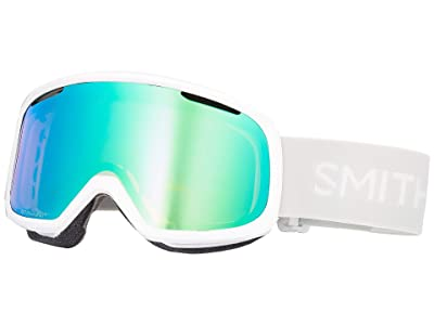 Smith Optics Riot Goggle (White Vapor/Chromapop Everyday Green Mirror/Yellow) Snow Goggles