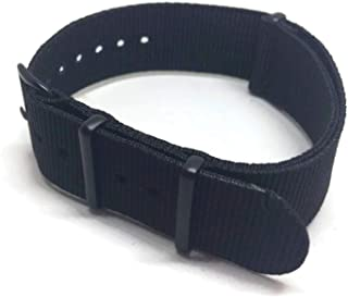 NA.T.O Zulu G10 Watch Strap Black with Black Buckle Size 16mm to 24mm