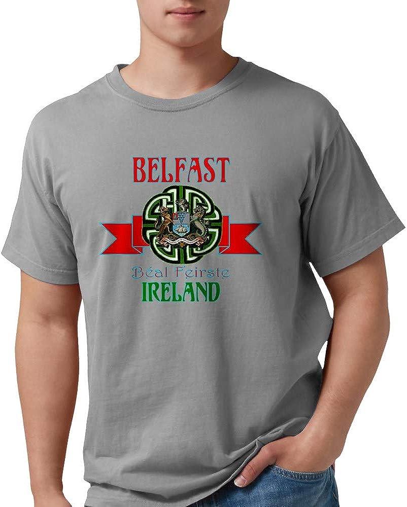CafePress Belfast Remake Ribbon3 Comfort Shirt 日本限定 Tee 新着 T