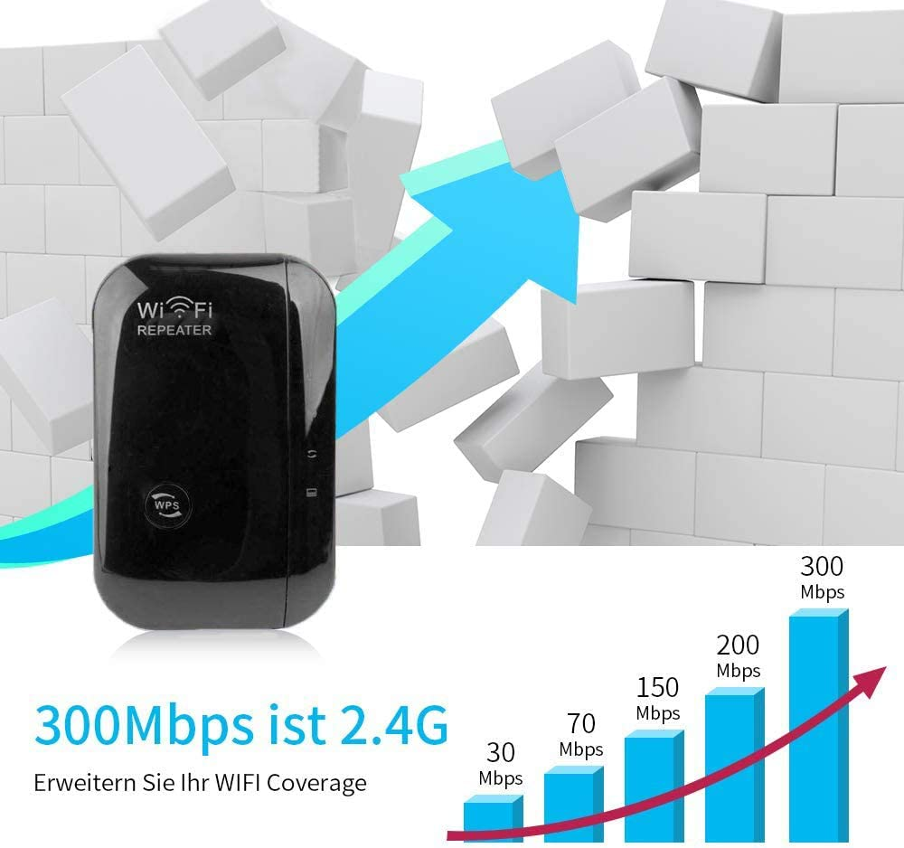 gaixample.org 2.4G 300Mbps WiFi Booster Range Extender For Home ...