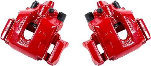 CCK11916 [2] REAR Performance Grade Red Powder Coated Semi-Loaded Caliper Assembly Pair Set
