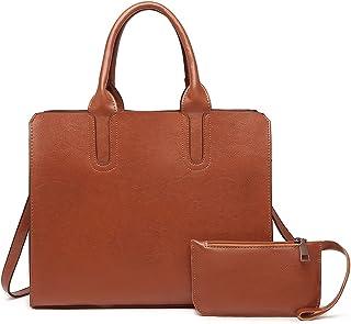 YeumouG Handtasche Damen Shopper Schwarz Groß Tasche Damen Lederhandtasche Elegant Schultertasche Umhängetasche Frau Henke...