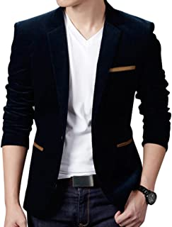 Mens Single Breasted Long Sleeve Slim Pocket Fitting Blazer