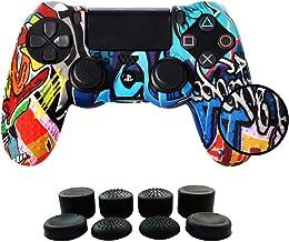 JANESAL Funda para Cubrir el Mando de PS4 con 8 Grips para