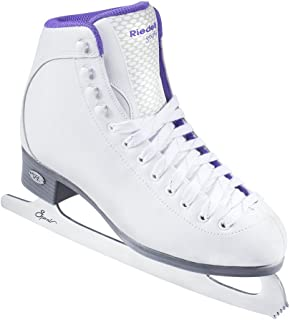 Riedell Skates - 118 Sparkle - Beginner Soft Figure Ice Skates with Stainless Steel Spiral Blade