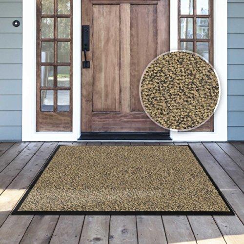 casa pura® Premium Fußmatte für Eingangsbereiche | Schmutzfangmatte in 6 Größen | beige - meliert | 90 x 120 cm