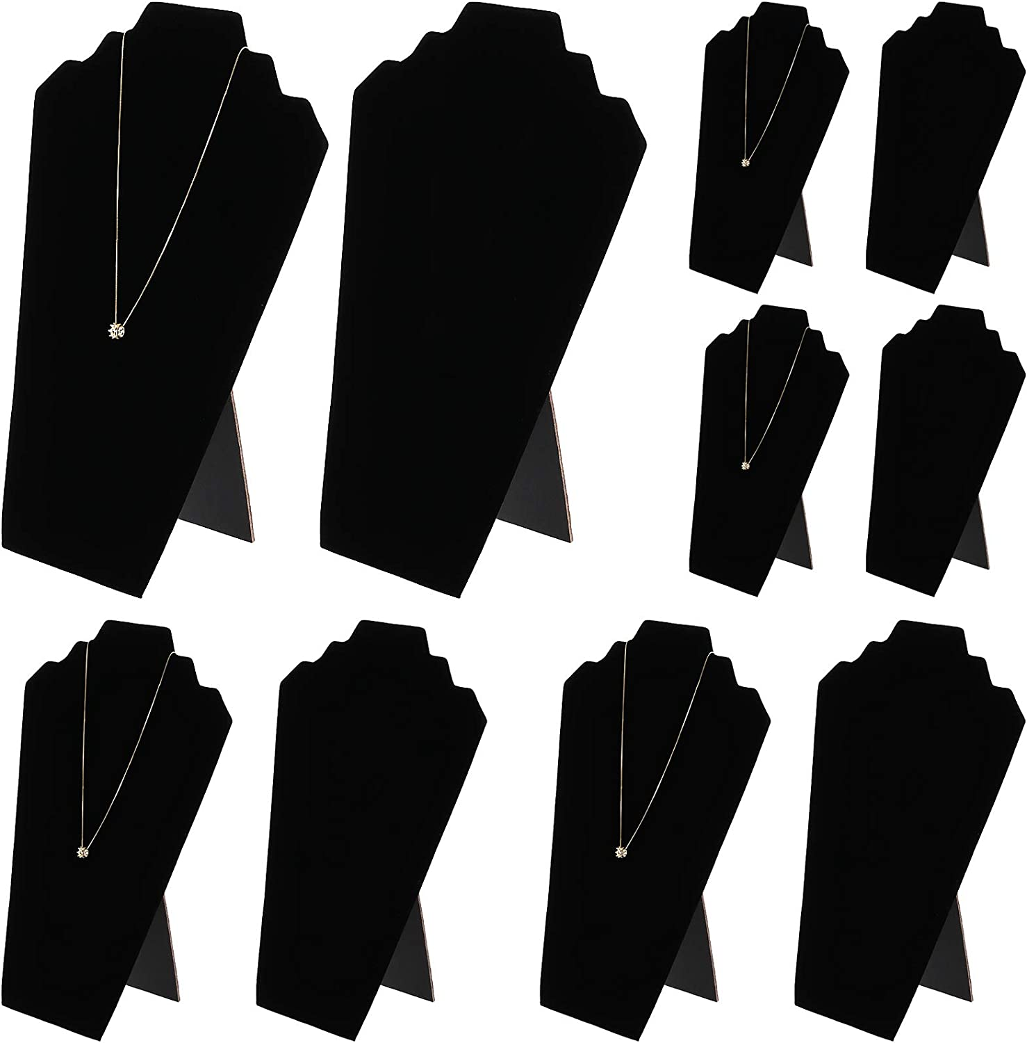 10 Packs Necklace Display KINJOEK Earring Jewelry Easel Black V Selling rankings Special price for a limited time