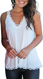 VESKRE Women's Summer Lace Strapless Tank Tops