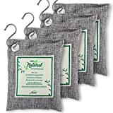 Air Purifier Bags with Bamboo Activated Charcoal (Purifying Pack of 4) | Natural...