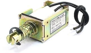X-DREE MQ8-Z10 DC12V 1kg/0mm Linear Two Wired Pull Open Frame Solenoid Electromagnet (Électro-aimant de solénoïde à cadre ...