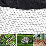 HJW 6.5 X 65 FT Bird Netting Poultry Netting Protect Plants and Fruit Trees Garden Net, 1