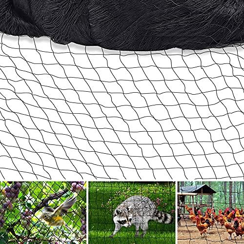 HJW 6.5 X 65 FT Bird Netting Poultry Netting Protect Plants and Fruit Trees Garden Net, 1' Mesh Sizefor Garden, Farm, Orchard, etc.