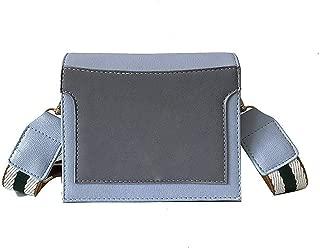 Women Shoulder Bag Wide Shoulder Strap Simple Zipper Crossbody Clutch Small Square Bag