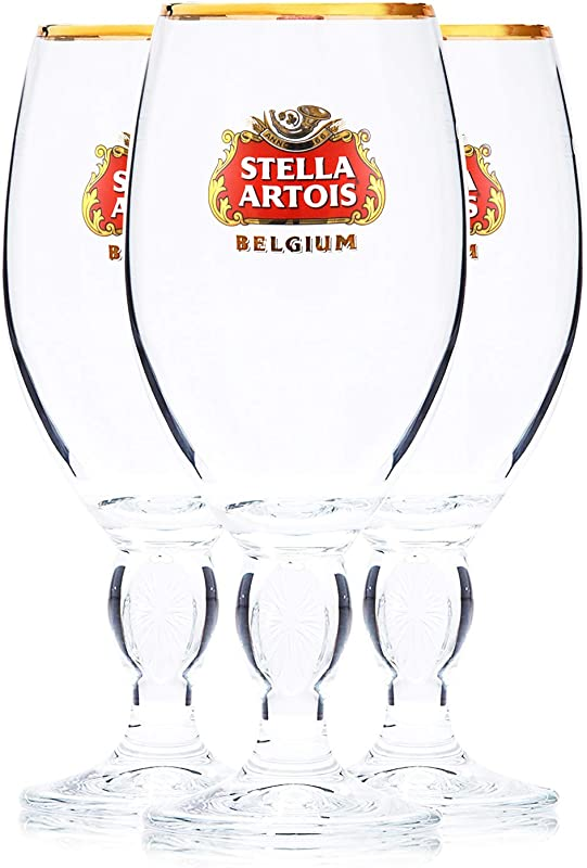Stella Artois 3 Pack Original Large Beer Glass Chalices 40cl