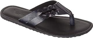 VONZO Men Black Slip On Casual Slipper Flip Flops
