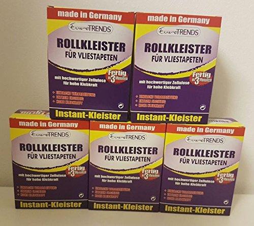 5x Rollkleister (je 200g) Tapetenkleister für Vliestapeten Kleister IN 3 MIN FERTIG!