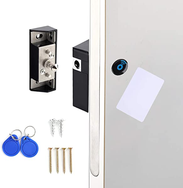 Lawei Electronic Cabinet Lock Kit Set With RFID Card And Tag Entry Hidden DIY Locks For For Wooden Cabinet Drawer Locker