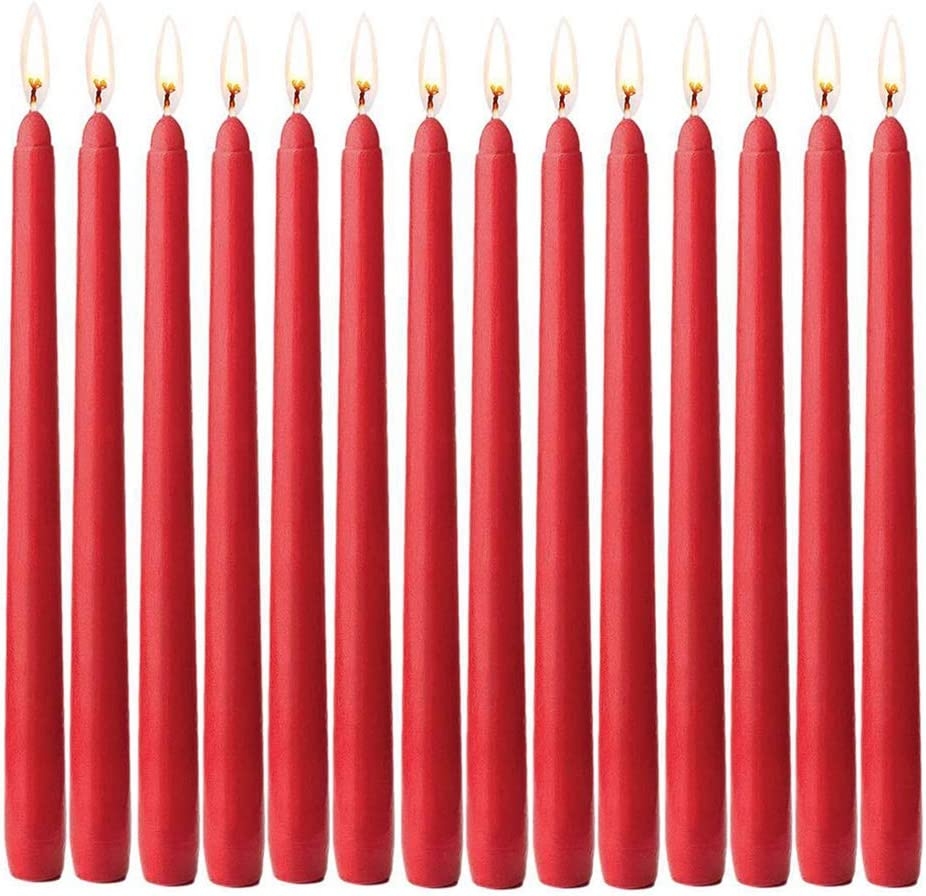 DROHOO Taper Oakland Mall Candle New Shipping Free 14 Tapered Unscented Hand-Dipped Pack