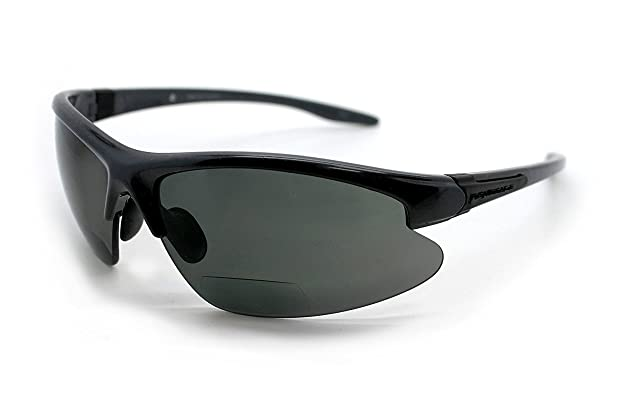20decb036d2 Eye Ojo Renegade Patented Bifocal Polarized Reader Half Rim Men s Fishing  Sunglasses 100% UV Protection with Microfiber Bag