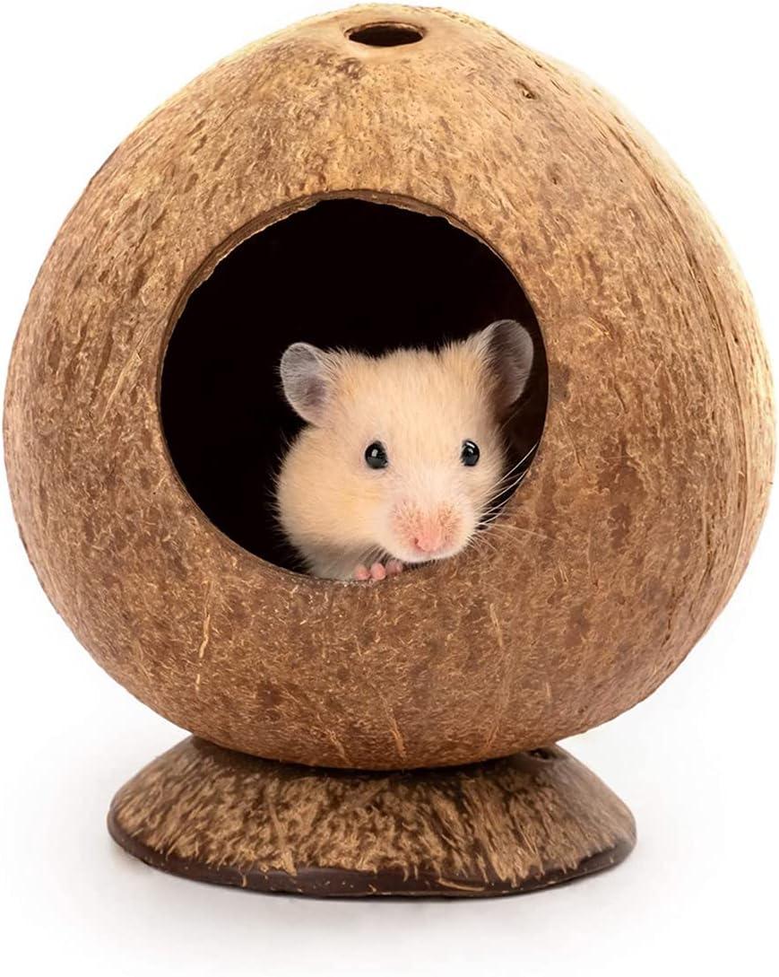 Unico NEW Max 72% OFF Coconut Shell Bird Ca Hamster Nest