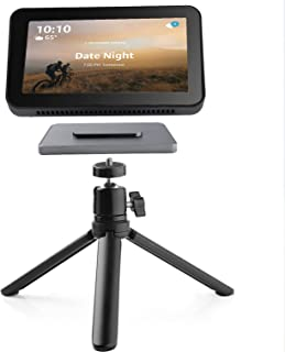 Adjustable Stand for Echo Show 8 & Show 8 2nd Gen, Flexible Tripod Metal Magnetic Speaker Holder, 360 Degree Rotatable Sph...
