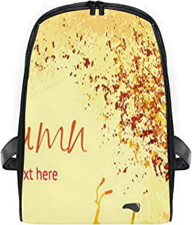 Kids school backpack,Autumn Colorful Leaf Wood bag Waterproof Lightweight bookbags for Primary Students leisure picnic travel