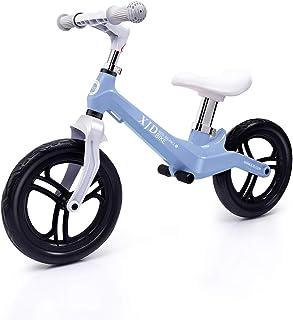 XJD ペダルなし自転車 キックバイク 子供用 2歳~5歳対象 高さ調整可 超軽量マグネシウム合金製 ノーパンクタイヤ 組み立て簡単 トレーニングバイク 乗用玩具 (青)